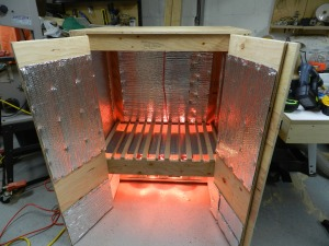 Warmed up kiln is ready for business