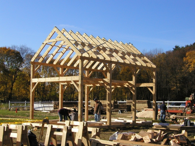 Timber Framing at Brookwood Farm