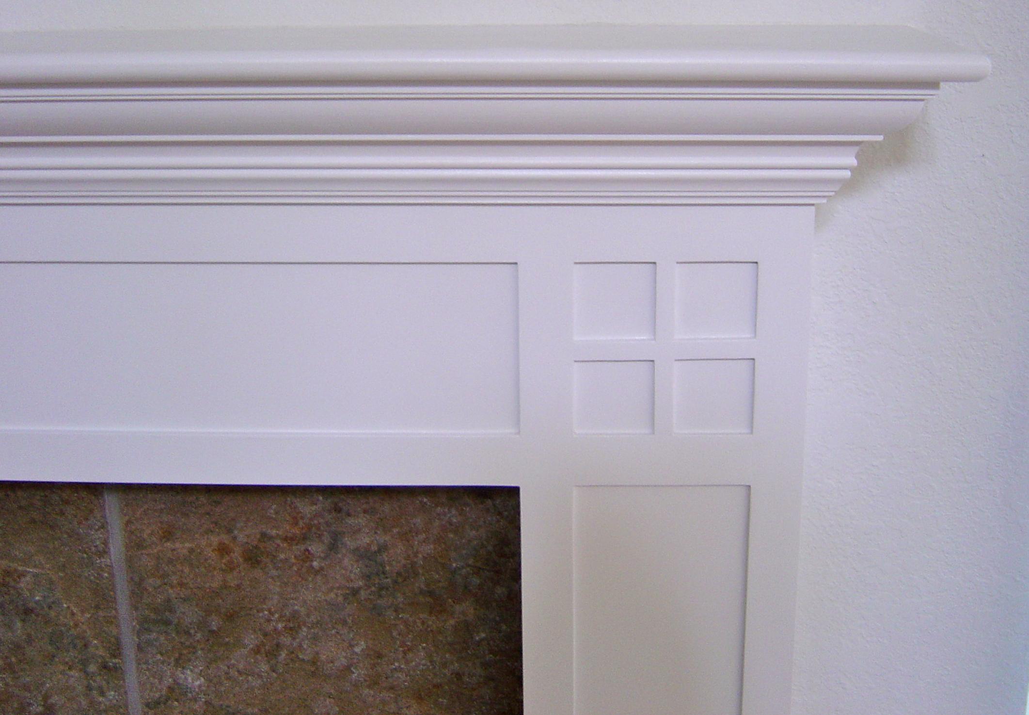 Craftsman style fireplace mantel - Fireplace Mantel Rainford Restorations