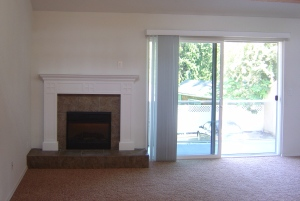WIde angle view of mantel