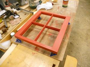 Using some scraps to make a framed mirror for my wife