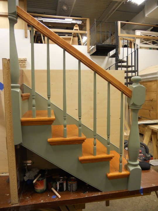 Completed staircase model