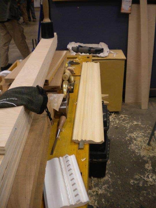 Working the curves and rabbet using wooden molding planes (hollows and rounds etc)
