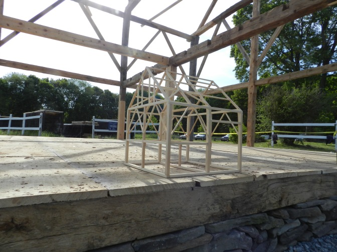 2 Bay English Style Barn Raising at Brookwood Farm