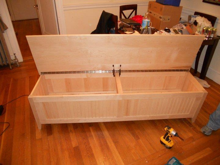 Completed Kitchen Bench with Open Lid