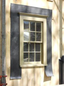 Completed window installed in the side of the barn