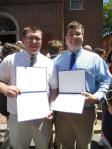 John and I with our Diplomas