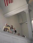 My Mom, Dad, Stepmother, and my Wife watching from the Balcony