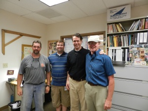 Rich Friberg, Bill Rainford, Brent Hull, Robert Adam (left to right)