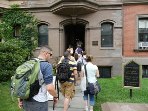 Walking tour of historic buildings and homes in Boston