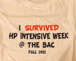 """I survived the HP Intensive Week @ The BAC Fall 2012"""