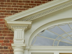 Detail view of the pediment