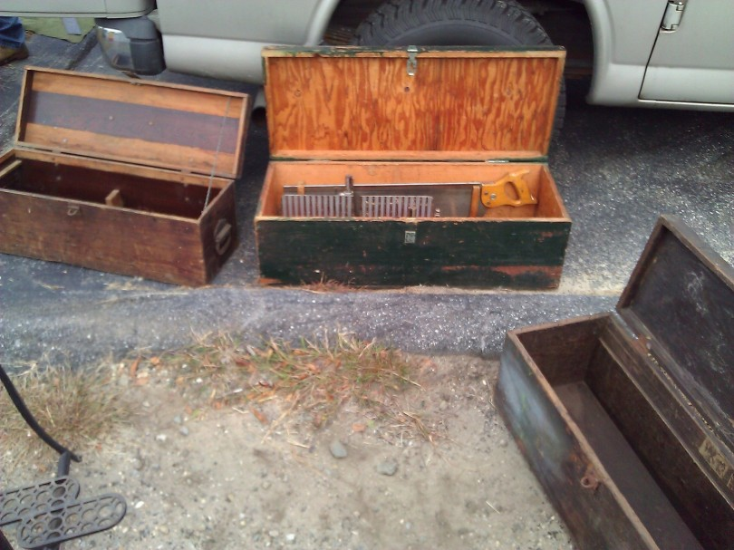 Some of the more pedestrian and modern tool chests -- I see some plywood