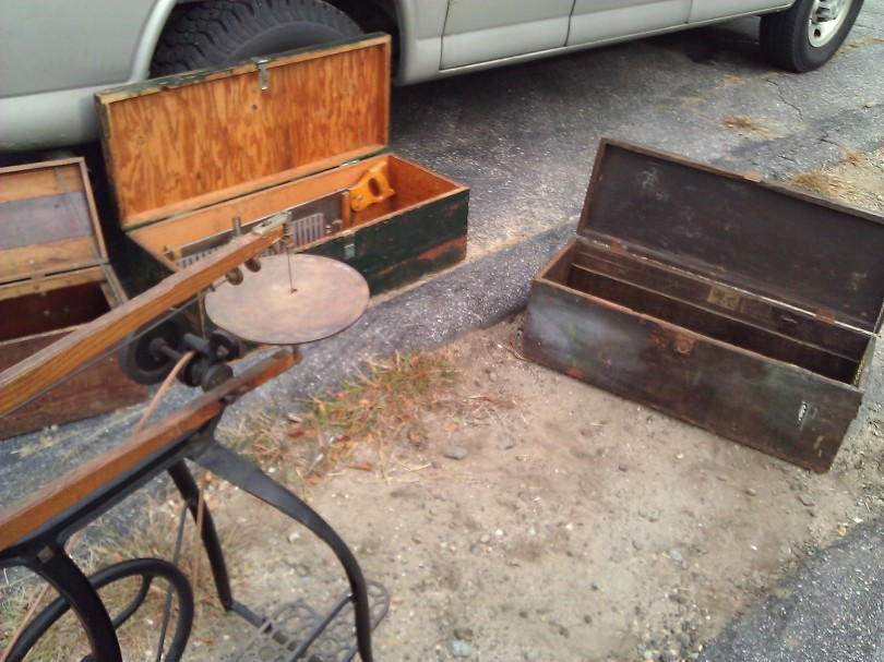 More of the modern chests, and a treadle powerd scroll saw