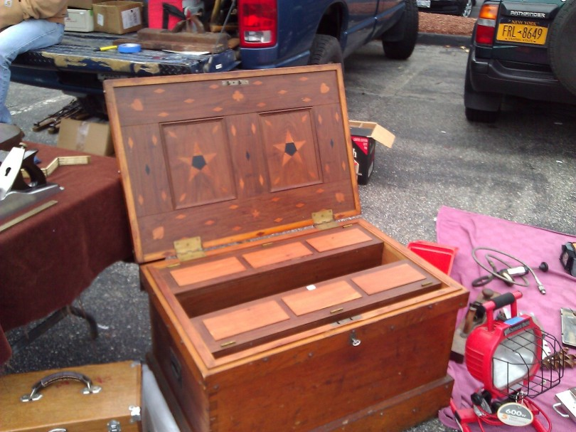 More of that ornate tool chest. This gentleman must have loved playing cards