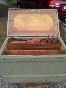 Large chest with inlaid lid