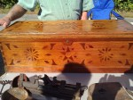Tool Chest with Extensive Inlay Work and single Till inside