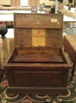 Large chest from the auction. Interesting box till on the lid