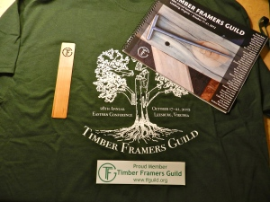 Conference T-Shirt, Wood Bookmark, Swag from the show