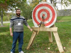 Bill Rainford (Me) standing next to my bullseye shot