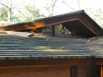 Triangular skylight in the master bath