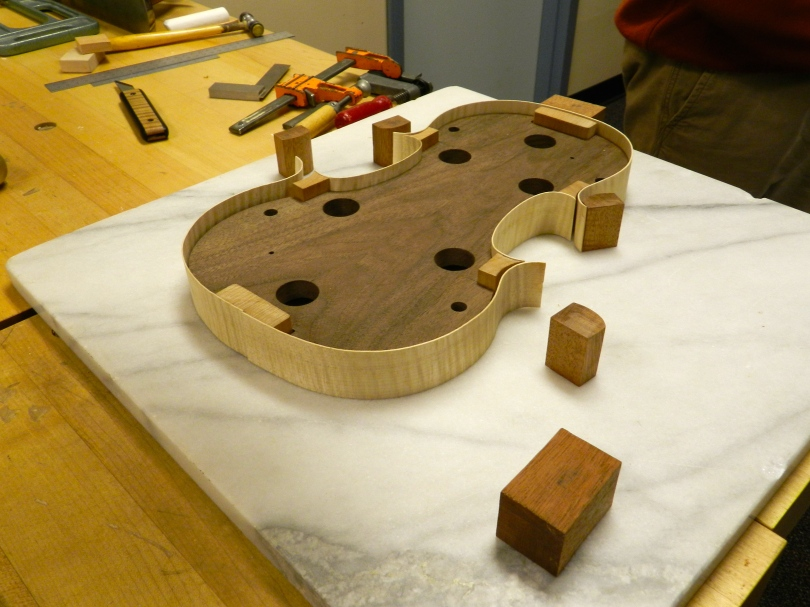 A Violin being constructed