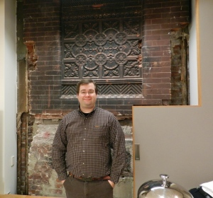 Me, in front of an example of what will be preserved in the old building