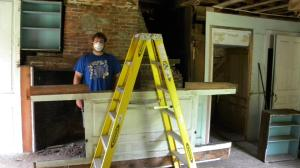 Getting the large panel and surround down in one piece (Pictured Bill Rainford)