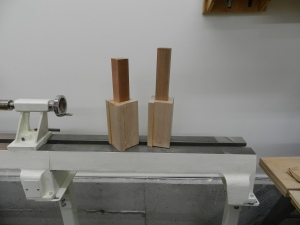 Blanks ready to be turned