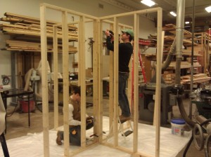 Assembling the frame sections