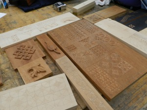 Chip and relief carving samples