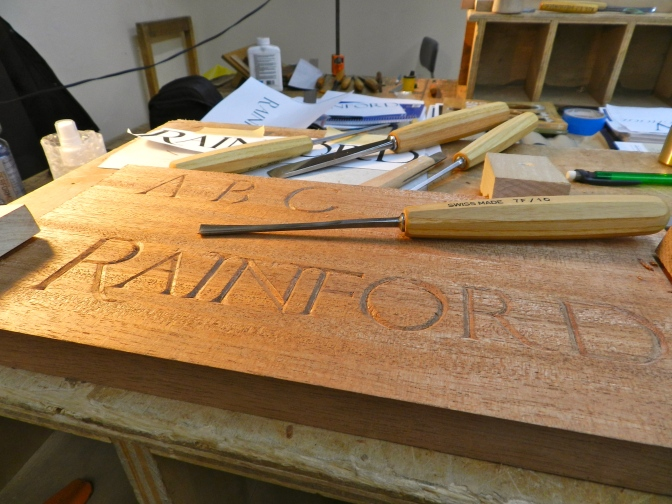 Signing your name in wood…