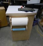 Towel racks in use