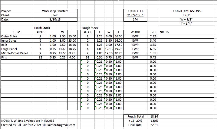 Stock Spreadsheet – Stock List Format