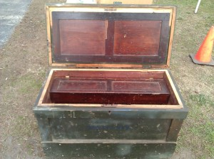 Saw till on lid closed. Lid back on tool tray in chest -- Nantucket Tool Chest