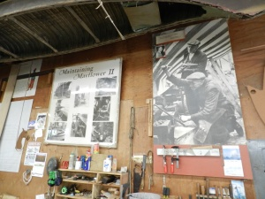 In the Plimouth Maritime Workshop -- I love to see the behind the scenes workshops at this sort of living history museum