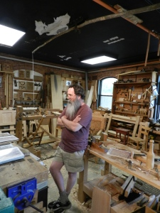 Peter Follansbee in his natural habitat -- the Joiner's shop