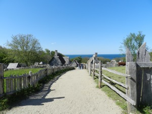View of Plimoth Plantation from the Fort