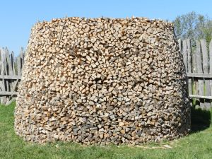 Beautifully stacked firewood getting ready for the long winter ahead