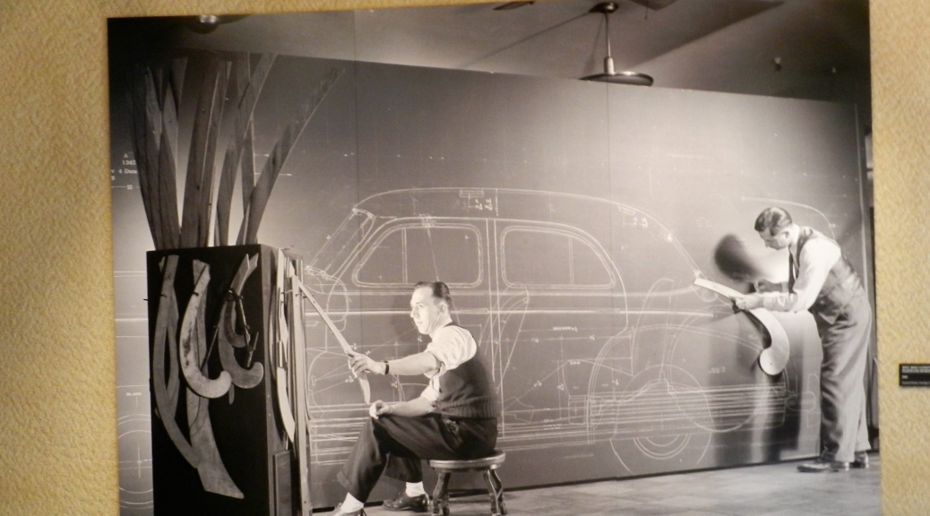 Harley Earl Designing new cars at GM
