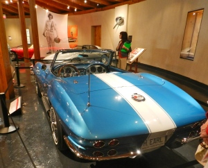 Harley Earl's retirement gift from GM -- a 1963 Stingray Vette that matched his shark.
