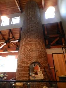 Working kiln inside of the Sandwich Glass Museum