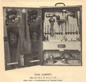 Sloyd Tool Cabinet Ad -- From Chandler and Barber