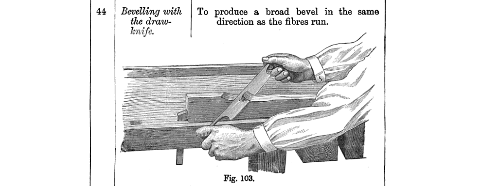 Beveling with a draw-knife exercise