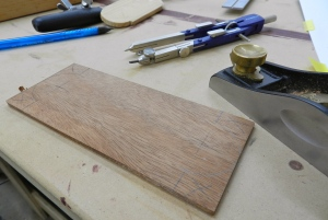 Lay out the design on the wood blank