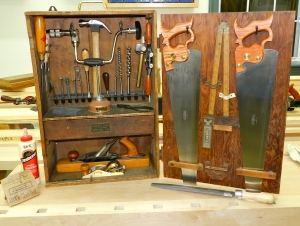 Fully Stocked Sloyd Tool Cabinet