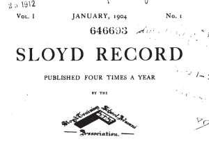 The Sloyd Record: Issue No.1 January 1904 -- Boston Sloyd School Alumni Newsletter