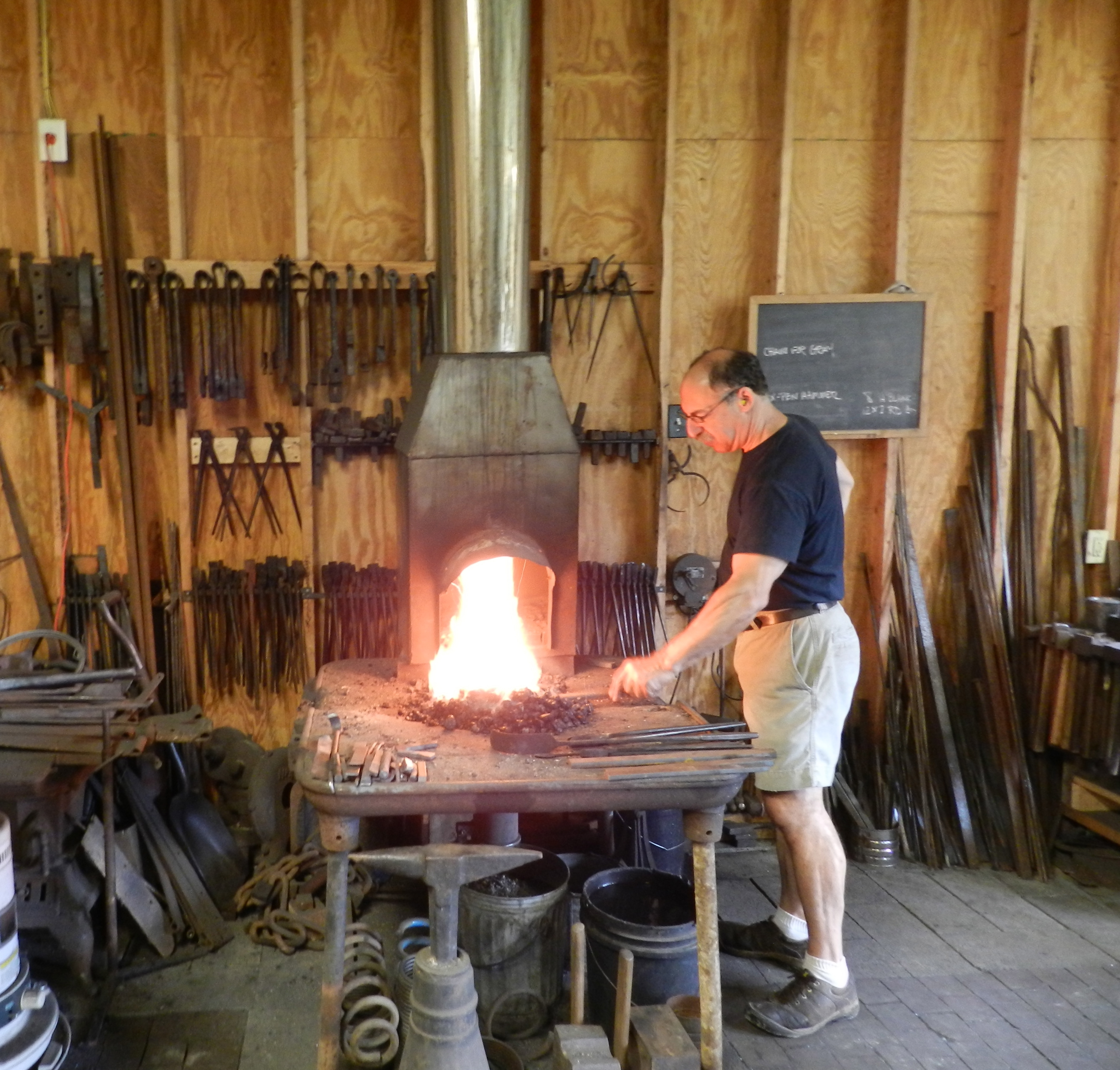 Old fashioned blacksmith forge 68