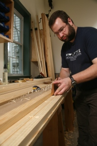 Setting in the details with a Snipe's Bill plane. (Photo courtesy of the Taunton Press)