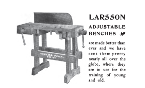 Larsson Adjustable Bench from November 1908 Sloyd Record